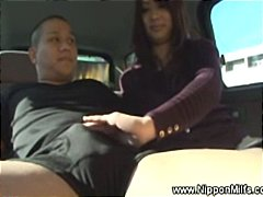 milf, car, outdoor, mom, mature, oriental