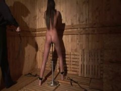 Erotic bondage with hot European babe