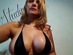 Busty milf showing big... video