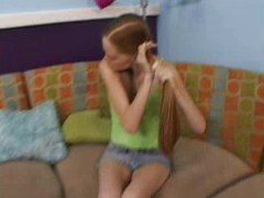 Pigtailed teen Layla g... video