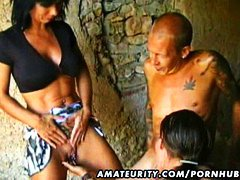 PornHub Movie:Amateur outdoor threesome acti...