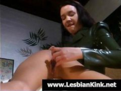 DrTuber Movie:Masked lesbian in a rubber mas...