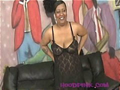 Ebony MILF choking and... video