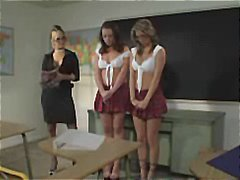 Two schoolgirls are in... video