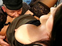 See: German office dame banged