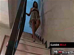 Keez Movies Movie:Claudia Bella's dress is up ov...