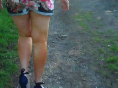 Sexy bare legged milf ... video