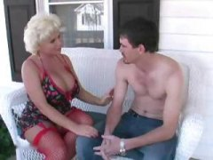 Chubby, mature blonde boun... - 24:08