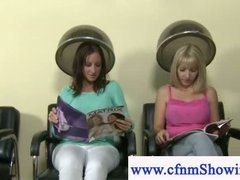 Cfnm horny girls enjoy... video
