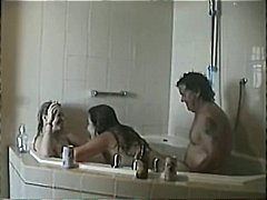 threesome in jacuzzi video