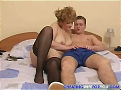 wild, mom, milf, russian, goes, part2