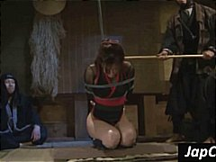 Petite Asian slave gets tortured and gets her back whipped hard