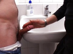 Thumb: Mature bathroom shagging