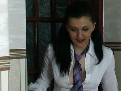 Horny secretary video