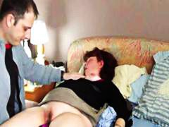 Chubby brunette MILF t... video