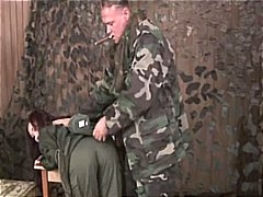 Bdsm on female army re... video