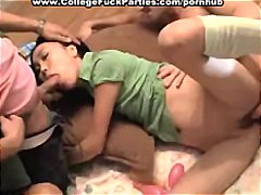 girl, student, playing, cock, party, guys,