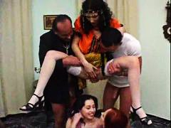 European orgy with lots of hot pissing action