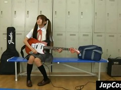 japanese, uniform, gets, music, fetish, young, lockerroom, sweet, licked, schoolgirl, cosplay, asian