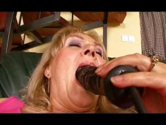 Chubby mature lady enj... video