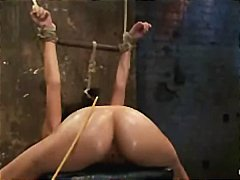 Nice ass bound babe fo... video
