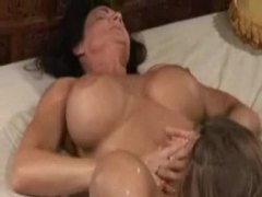 orgasm, big tits, eating, fingering