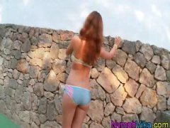 pussy, teen, girl, russian, red head, solo,