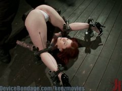 hardcore, red head, bondage, vibrator,
