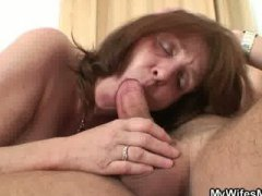 brunette, mature, reality, big-tits, amateur, homemade, shower, blowjob, old, milf, handjob,