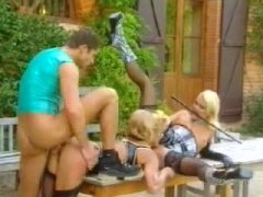 Alpha Porno Movie:Exciting threesome outdoors wi...