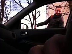 girl, public nudity, car, russian, flashing, public,