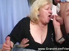 group, double, blowjob, threesome, mature, double blowjob, grandmother