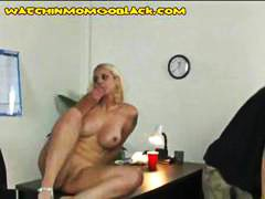 Thumb: Busy blonde mom gets b...