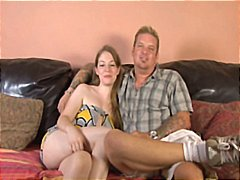 Hubby sets up his wife for a hot fucking session with a big black cock and watches