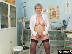 Thumbmail - Busty granny in unifor...