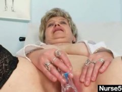 Busty granny in unifor...