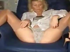 Tight mom playing with...