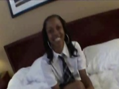 Cute Ebony 19yo School... video