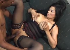 hardcore, stockings, big cock, milf, chubby, big tits, interracial,