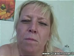mature, grandmother, old, cock, hard, gran