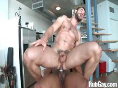 gay, shaved, huge cock, big cock, hot, bear, muscled, dude, handjob