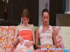 lesbian, teen, amateur, russian, fishnet, kissing, rubbing, teens,