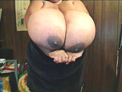 ebony, bbw, boobs, flashing,