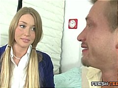 Thumb: Blonde schoolgirl gets...