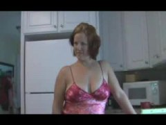 Housewife in satin lin... video