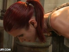 See: Tied up babe punish by...