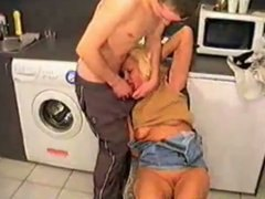 fucked, boy, mature, kitchen, russian