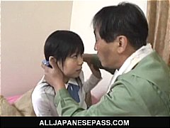 lovely, sucking, asian schoolgirl, big, asian, kissing