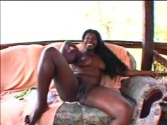 Big black girl masturb...