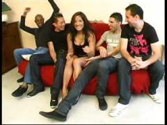 Gang bang brunette ara... preview